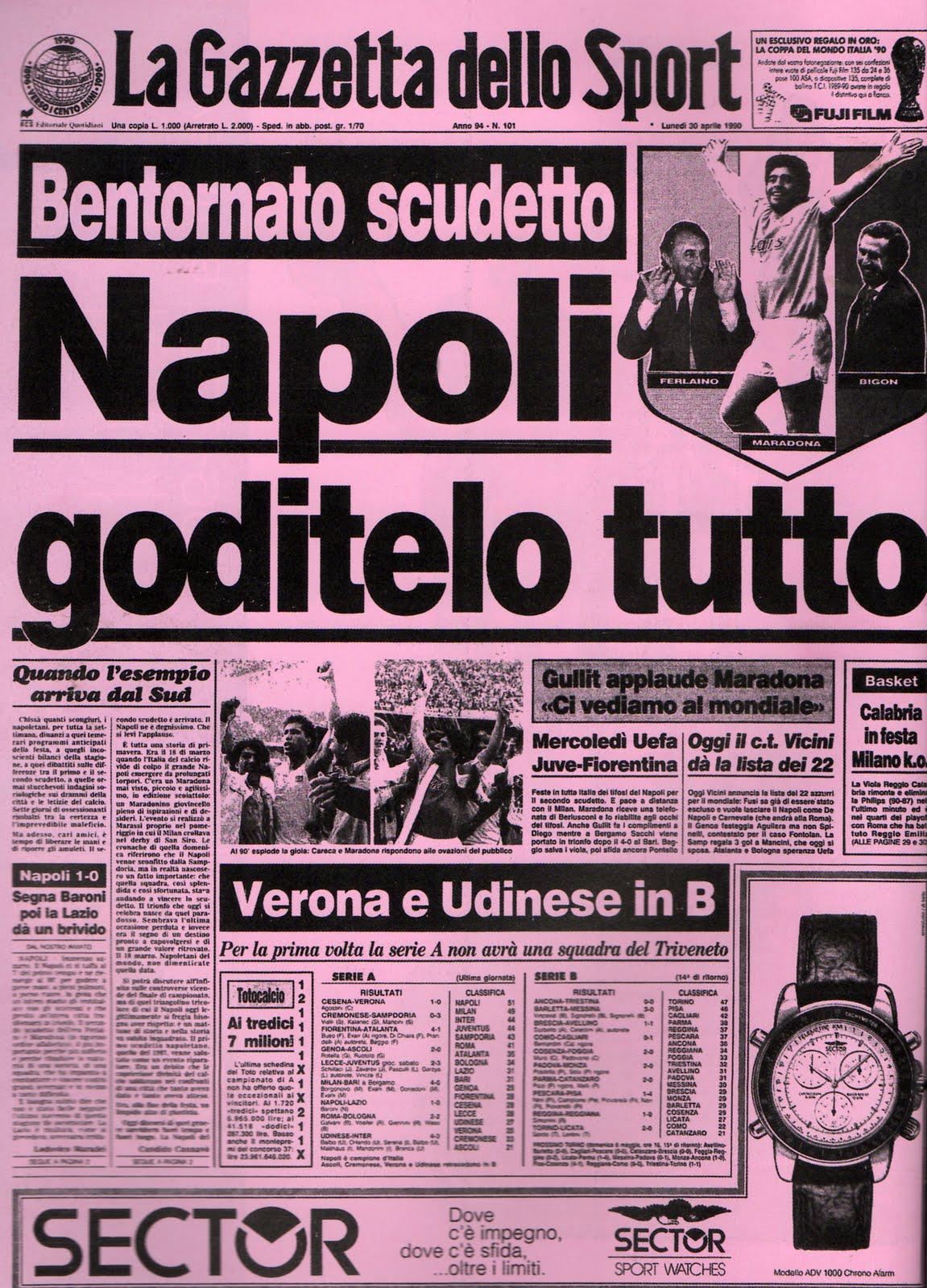 NON DIMENTICHIAMO : 29 APRILE 1990