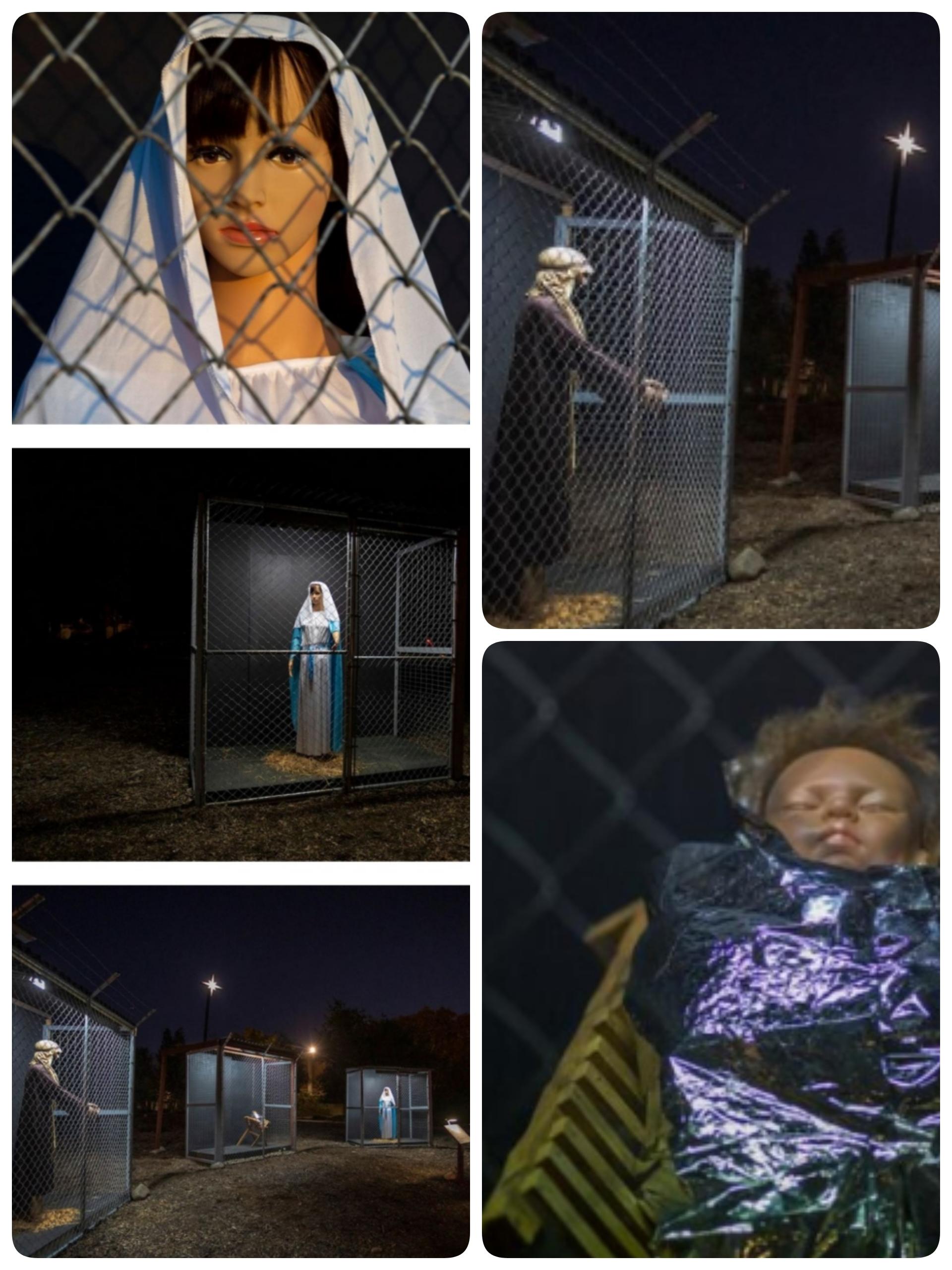 Il Presepe con la Sacra Famiglia in gabbia